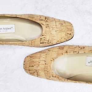 Etienne Aigner | Natural Cork Heels